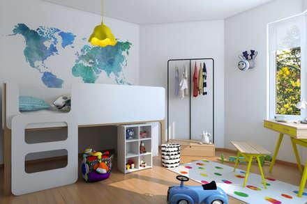 Chambre enfant 6 ans : Chambre d'enfant de style de style Moderne par INSIDE YOUR HOME