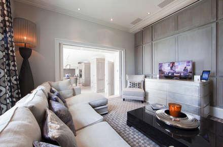 Restored Georgian splendour with modern indulgences: classic Media room by Design by UBER