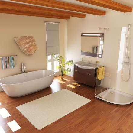 Ideas y más ideas: Baños de estilo moderno por ALI-CURA