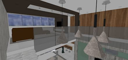 Estar intimo para Tv.: Salas de entretenimiento de estilo minimalista por MARATEA Estudio