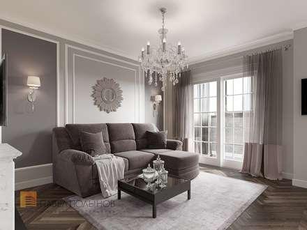 Квартира в стиле современной классики, ЖК «Дом с курантами», 86 кв.м.: Гостиная в . Автор – Студия Павла Полынова