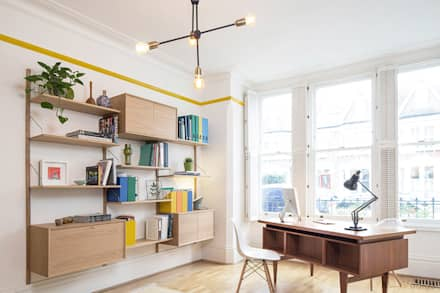 Clerkenwell House 01: eclectic Study/office by YAM Studios