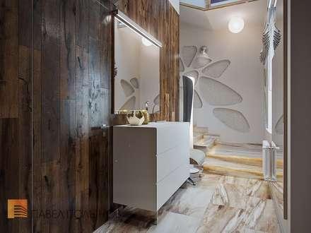 Интерьер дома в современном стиле, город Сестрорецк, 288 кв.м.: Коридор и прихожая в . Автор – Студия Павла Полынова
