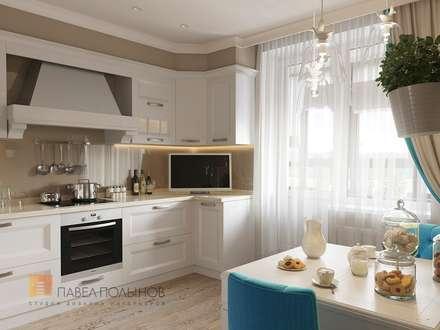 Интерьер квартиры в стиле легкой классики, ЖК «Академ-Парк», 68 кв.м.: Кухни в . Автор - Студия Павла Полынова