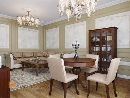Трехкомнатная квартира в классическом стиле, ЖК «Дом на Дворянской», 133 кв.м.: Гостиная в . Автор – Студия Павла Полынова