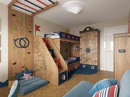 Трехкомнатная квартира в Пушкине в стиле легкой классики, 73 кв.м.: Детские комнаты в . Автор – Студия Павла Полынова
