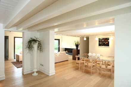 country Dining room by VALERI.ZOIA Architetti Associati