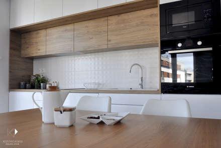 Realizacja - Mieszkanie 50m2,Kraków: styl , w kategorii Kuchnia zaprojektowany przez Architekt wnętrz Klaudia Pniak