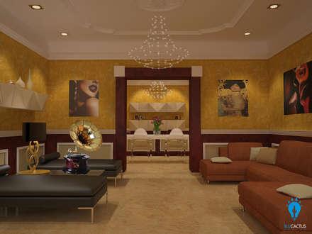Elegance: Soggiorno in stile in stile Classico di blucactus design Studio