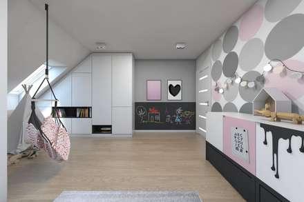 Projekt domu jednorodzinnego 8: styl , w kategorii Pokój dziecięcy zaprojektowany przez BAGUA Pracownia Architektury Wnętrz