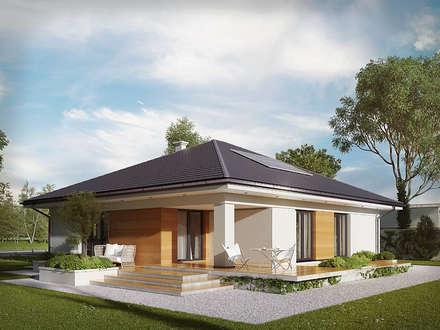 Wizualizacja projektu domu Ariel 4: styl nowoczesne, w kategorii Domy zaprojektowany przez Biuro Projektów MTM Styl - domywstylu.pl