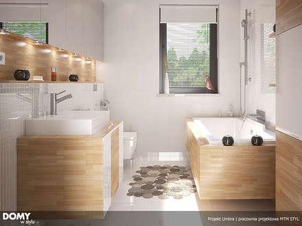 Wizualizacja wętrza projektu domu Umbra: styl , w kategorii Łazienka zaprojektowany przez BIURO PROJEKTOWE MTM STYL