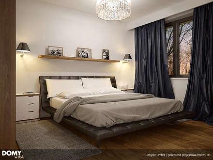 Wizualizacja wętrza projektu domu Umbra: styl , w kategorii Sypialnia zaprojektowany przez BIURO PROJEKTOWE MTM STYL
