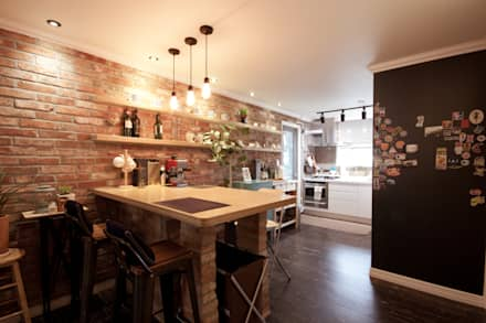 industrial Dining room by 디자인투플라이