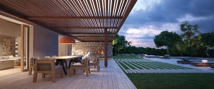 CASA DA ROCHA: Jardines de estilo mediterráneo de LUV-Architecture & Design