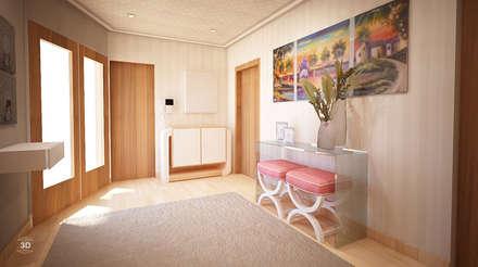 PASSAGEWAY: Corredores, halls e escadas modernos por GRAÇA Decoração de Interiores