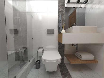 Ampliación y reforma vivienda S|M: Baños de estilo moderno por ARQ. María Florencia Fernández