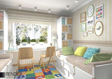 Дизайн квартиры для молодой семьи: Детские комнаты в . Автор – RENDER
