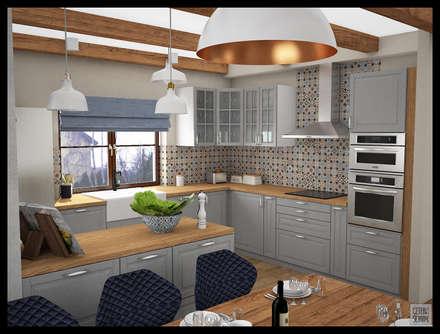 eclectic Kitchen by Biuro projektowe Cztery Ściany Martyna Bejtka
