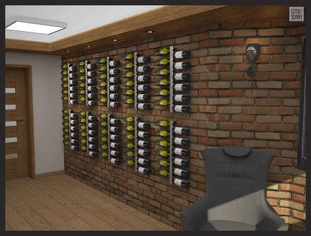 rustic Wine cellar by Biuro projektowe Cztery Ściany Martyna Bejtka