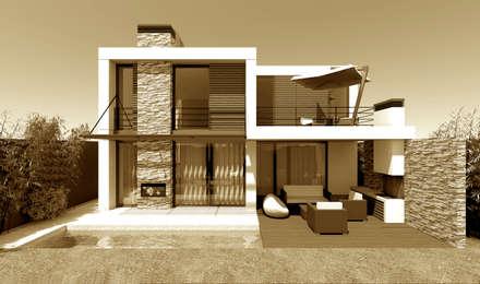 Moradia em Alphaville | São Paulo | Brasil: Habitações  por Ar Studio Architects