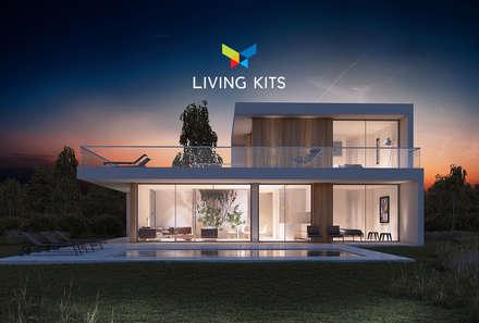 Casa Zen: Casas de estilo moderno de Casas Modernas   LIVING KITS