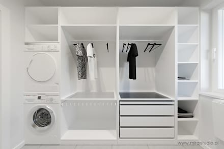 minimalistic Dressing room by MIRAI STUDIO