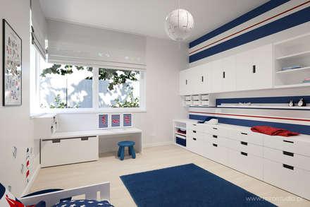 DOM – OLKUSZ, SŁONECZNA – WIZUALIZACJA: styl , w kategorii Pokój dziecięcy zaprojektowany przez MIRAI STUDIO