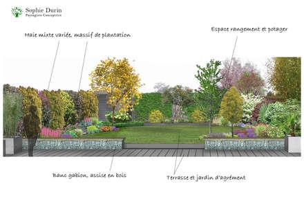 Projet d'aménagement: Jardin de style de style Moderne par  Sophie Durin | Empreinte Paysagère