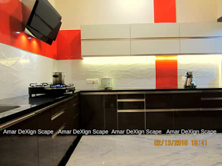 Senthil Residence - Kitchen Renovated: minimalistic Kitchen by Amar DeXign Scape