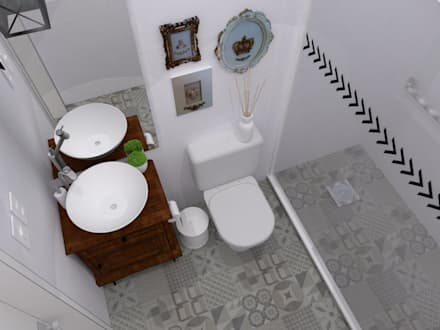 colonial Bathroom by Arquiteta Fernanda Fedrizzi