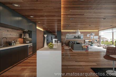 House by River side: Habitações  por Matos Architects