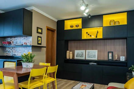 Espaço Gourmet: Salas de jantar modernas por Liana Salvadori Arquitetura e Interiores