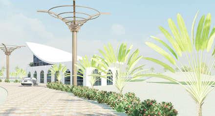 Campus Universitario - Parana - Brasile: Spa in stile in stile Tropicale di Studio la Piramide Architettura e Urbanistica
