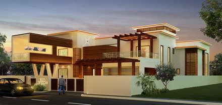 Mr. Ehiya Residence at Tanjore: modern Houses by Dwellion