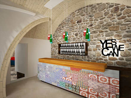Bares y Clubs de estilo  por B+P architetti