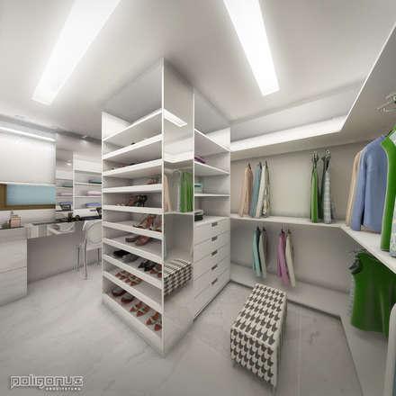 Apartamento TS: Closets modernos por Poligonus Arquitetura