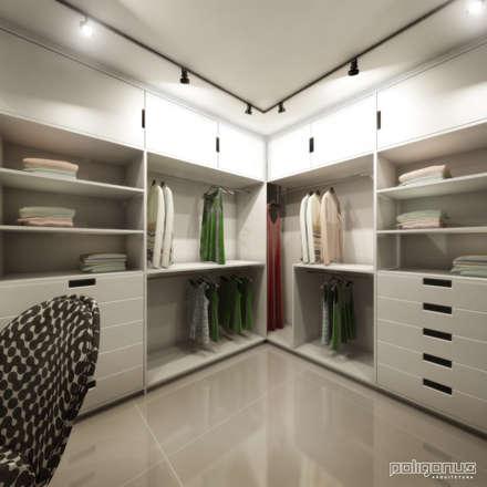 Apartamento NC: Closets modernos por Poligonus Arquitetura