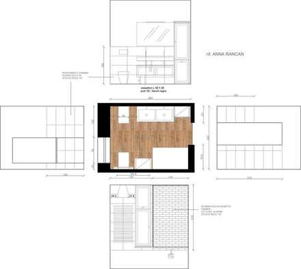 Il progetto dei volumi e dei rivestimenti: Bagno in stile in stile classico di STEFANIA ARREDA