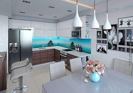 Кухня-столовая: Кухни в . Автор – hq-design