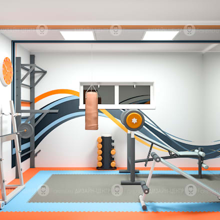 Тренажерная комната: Тренажерные комнаты в . Автор – Studio Fareni