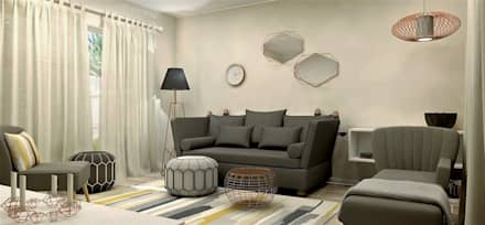 Living room Interior Design: eclectic Living room by Lena Lobiv Interior Design