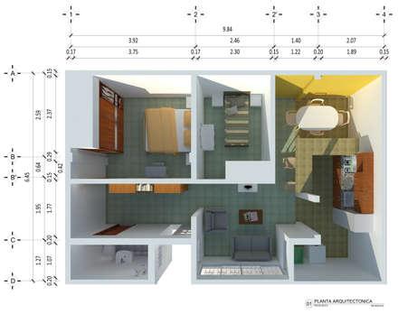 Planta Arquitectonica: Casas de estilo moderno por Ingenieros y Arquitectos Continentes