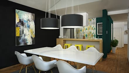 CERRO AZUL: Comedores de estilo escandinavo por Kuro Design Studio