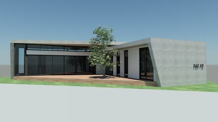 Western Hill House: DDS 건축디자인의  발코니, 베란다 & 테라스