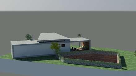 Western Hill House: DDS 건축디자인의  정원