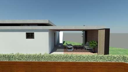 Western Hill House: DDS 건축디자인의  복도, 현관 & 계단