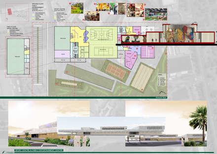 Sport centre: Palestra in stile in stile Moderno di DAST - Dante D'Agostino