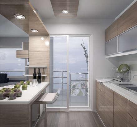 ARCHMY Mimarlık – Karataş Asansör A-Ö Evi: modern tarz Mutfak