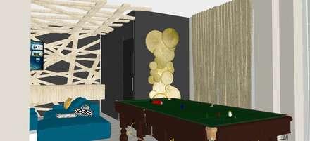 Villa Unifamiliare 300mq : Sala multimediale in stile  di T_C_Interior_Design___